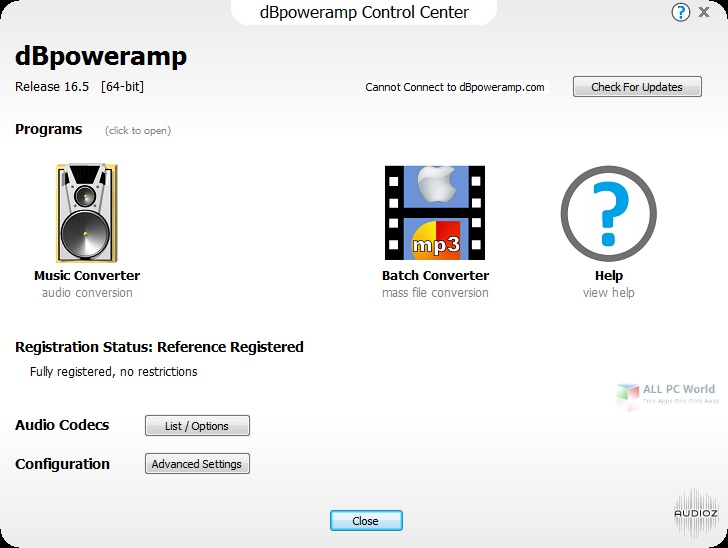 dBpowerAMP Music Converter 17.3 Crack +Registration Key Full Version Free Download