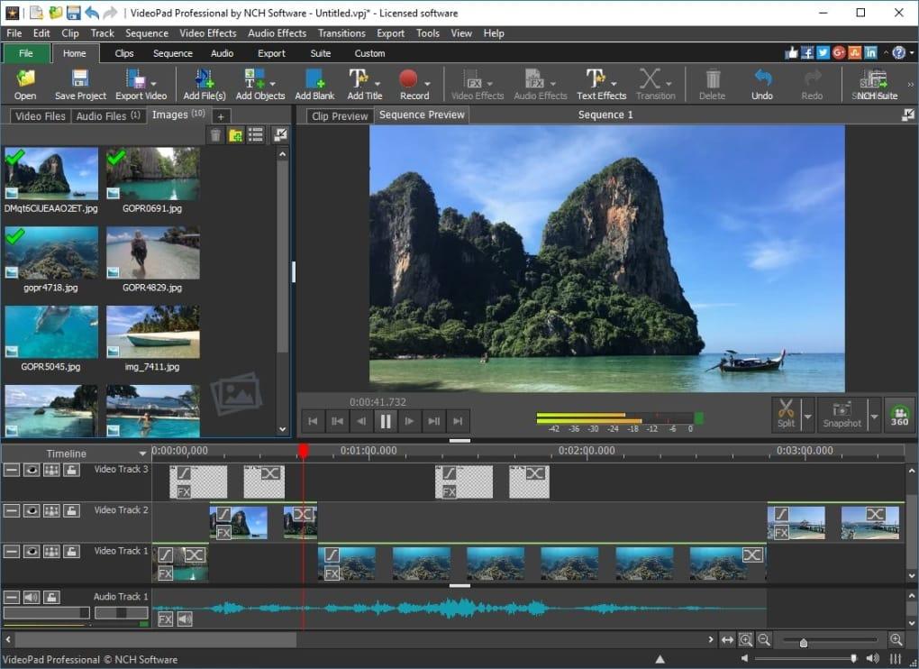 VideoPad Video Editor 10.49 Crack + Serial Keygen Free Download