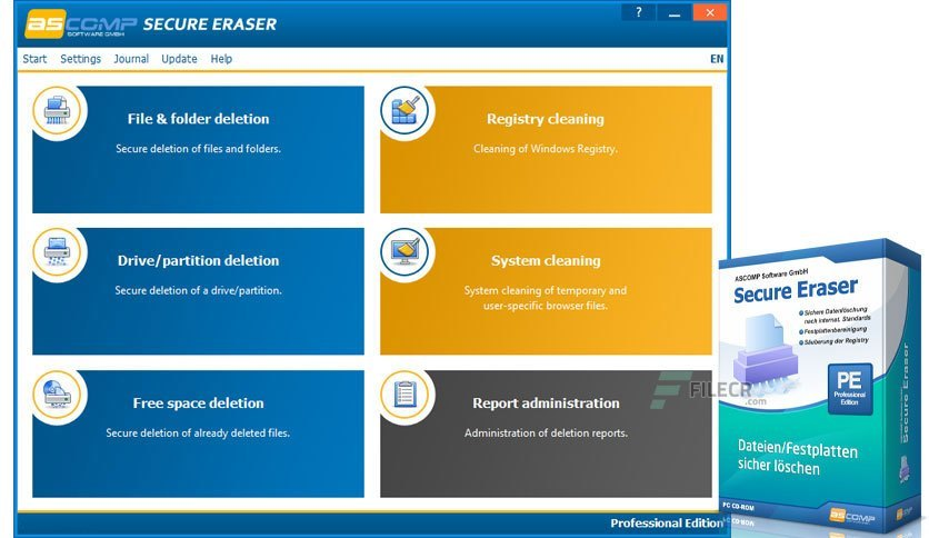 Secure Eraser Professional 5.301 Crack With Serial Key 2021 Free